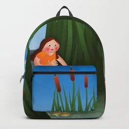 Baby Moses on the River Nile Backpack