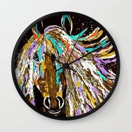 Horse Abstract Oil Painting Wall Clock