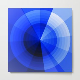 Monochromatic Blue Sphere Metal Print