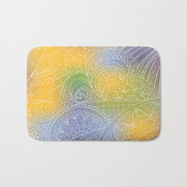 zen pattern on yellow-blue gradient Bath Mat