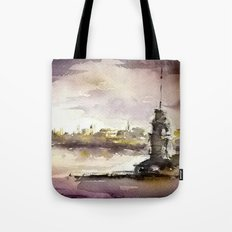 Maidens Tower Istanbul Tote Bag