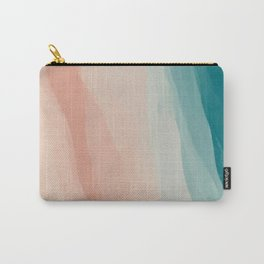 An Abstract Beach Walk Along The Shore Carry-All Pouch