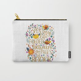 Folded Between the Pages of Books - Floral Carry-All Pouch