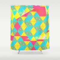transparent Shower Curtains featuring Transparent Triangle by Lillian Cassidy
