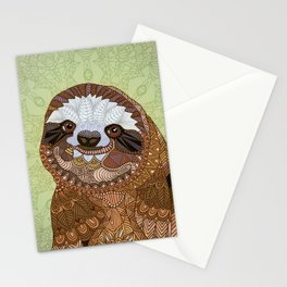 Smiling Sloth Stationery Cards