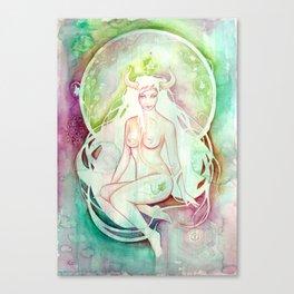 Goddess of Taurus - An Earth Element Canvas Print