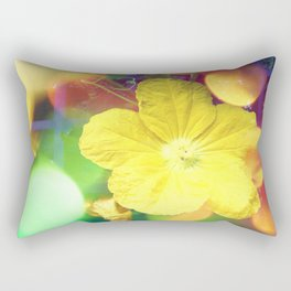 Secret Garden   Cucumber flower Rectangular Pillow