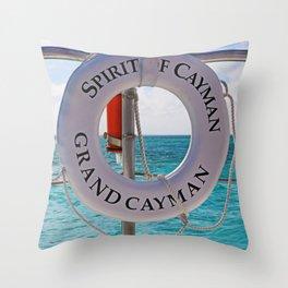 Spirit of Cayman Throw Pillow