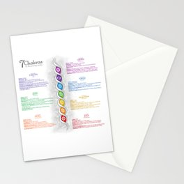7 Chakra Poster #47 Stationery Cards