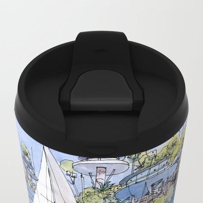 La Citta' sul mare Metal Travel Mug