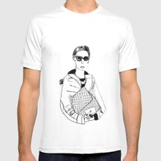 Bag Lady MEDIUM White Mens Fitted Tee