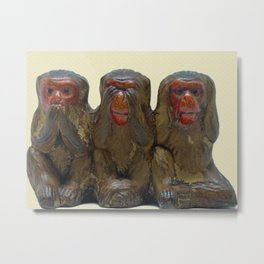 Three Wise Monkeys Metal Print