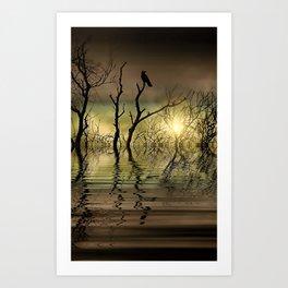 Twilight reflected Art Print
