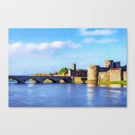 King Johns Castle and Thomond Bridge Canvas Print