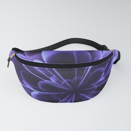 Abstract Blue Flower Fanny Pack