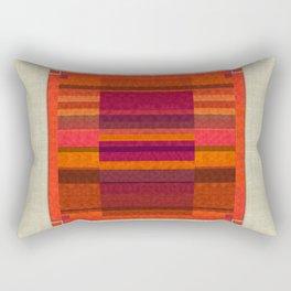 """Pink and Purple Burlap & Velveteen"" Rectangular Pillow"