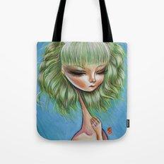 Green petals - Pop Surrealism Illustration Tote Bag