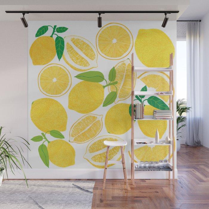 Lemon Harvest Wall Mural