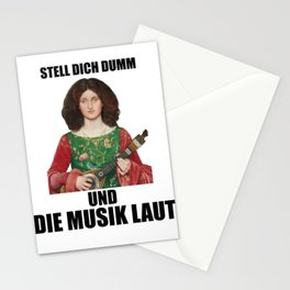 Funny renaissance style guitar party outfit Stationery Cards