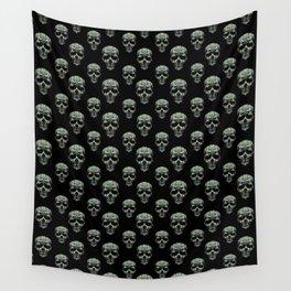 Skulls Motif Print Pattern Wall Tapestry