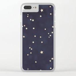 Gold Stars Clear iPhone Case