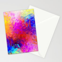 Colorful Splatter Stationery Cards