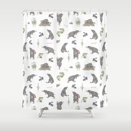 Mole on the way Shower Curtain
