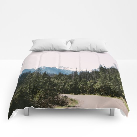 Mountain Landscape with Road Comforters