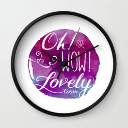 Oh! Wow! Lovely Wall Clock