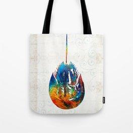 Colorful Horseshoe Crab Art by Sharon Cummings Tote Bag