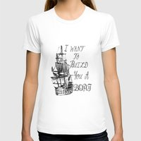 larry stylinson T-shirts featuring I want to build you a boat. Harry Styles. Tattoo. (Larry Stylinson) by Arabella