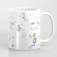 le petit prince Mugs featuring LE PETIT by Ana Depuntillas