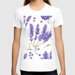 watercolor lavender flowers T-shirt