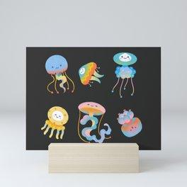 Pastel Jellyfish Mini Art Print