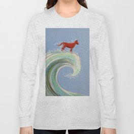 Surfing Kelpie Long Sleeve T-shirt