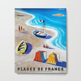 Plages de France Metal Print