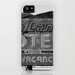 Vintage Neon Sign In Tucson - Sun Land Motel iPhone Case
