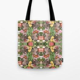 Bunny Cockatoo Kaleidoscope Tote Bag