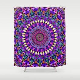 Bohemian Blossom Mandala Shower Curtain