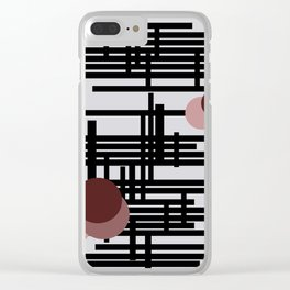Abstract wall Clear iPhone Case
