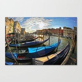 Beautiful sunset  in Venice Canvas Print