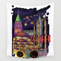 istanbul Wall Tapestries featuring Istanbul  by Aleksandra Jevtovic