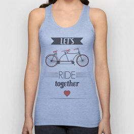 Let's Ride Together Poster Unisex Tank Top