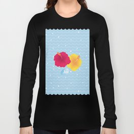Hibiscus and Thunderhead reflected on the wave_YR Long Sleeve T-shirt