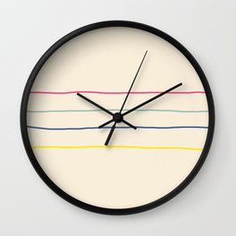 Abstract Retro Lines #1 Wall Clock