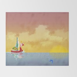 Pixelized : Wind Waker  Throw Blanket