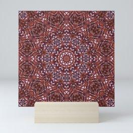 Jubilee feather mandala Mini Art Print