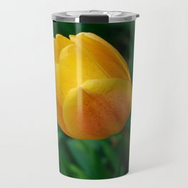 Close-up Of Bright Yellow Tulip Travel Mug