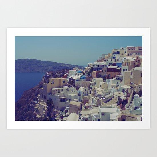 Oia, Santorini, Greece II Art Print