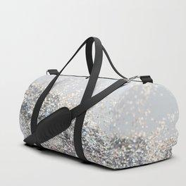 Silver Gray Glitter #2 #shiny #decor #art #society6 Duffle Bag